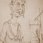 Бабушка Яжка сепия 150x150 - Компьютерные рисунки