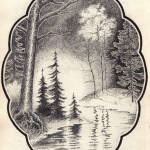№0015. Лесной ручей 150x150 - Альбом №3