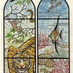 №0020. Витраж. Тигр. Морские животные 150x150 - Альбом №3