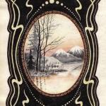 №0025. Пейзаж в рамке 150x150 - Альбом №3