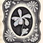 №0027. Орхидея в рамке 150x150 - Альбом №3