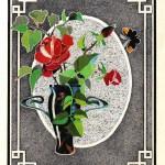 №0038. Роза в рамке 150x150 - Альбом №3