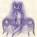 .058. Грустный лис Нади Рушевой 150x150 - Альбом №2