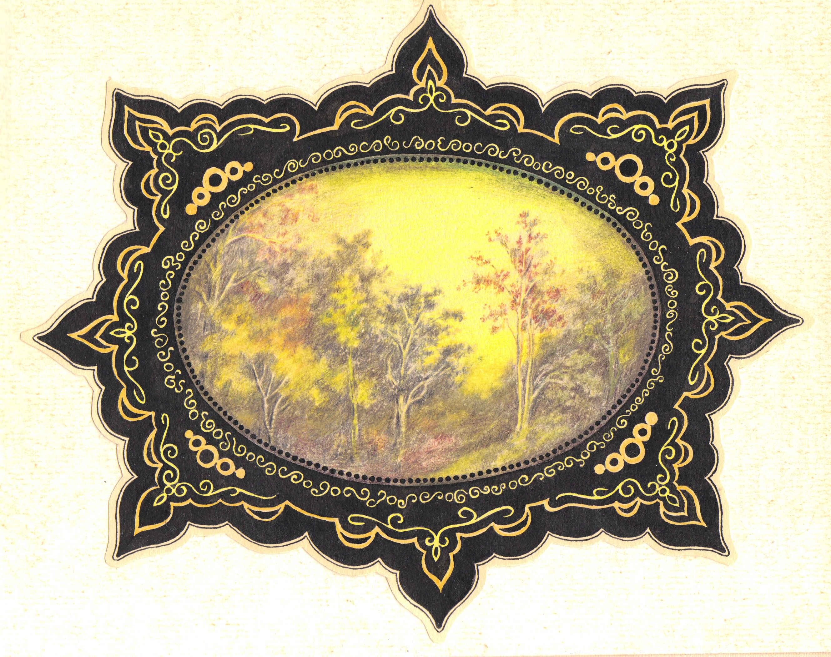 Рисунок №0001. Осень в рамке