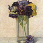 Анютины глазки в стакане 150x150 - Цветы