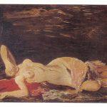 Бажбеук Меликян А.А Обнажённая на красной подушке 150x150 - Советские художники и зарубежья