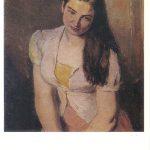 Бажбеук Меликян А.А Портрет девушки с распущенными волосами 150x150 - Советские художники и зарубежья