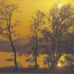 Закат над рекой 150x150 - Пейзажи