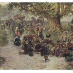 Какабадзе А.Д Хевсуры на храмовом празднике Алавердоба 150x150 - Советские художники и зарубежья