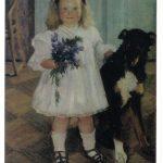 Кустодиев Борис Михайлович Портрет Ирины Кустодиевой с собакой Шумкой 150x150 - Кустодиев Борис Михайлович