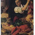 Молодая женщина у стола с омаром 150x150 - Неизвестные художники