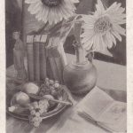 Подсолнухи в натюрморте 150x150 - Цветы