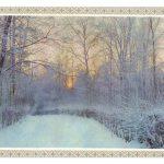 Предновогодний пейзаж в рамке 150x150 - Пейзажи