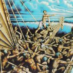 Прибытие маори на каноэ 150x150 - Неизвестные художники