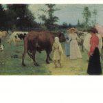 Репин Илья Ефимович Барышни на прогулке среди стада коров 150x150 - Репин Илья Ефимович