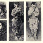 Четыре фрагмента с портретами детей 150x150 - Неизвестные художники